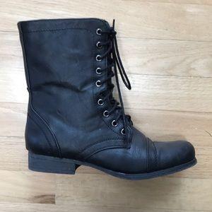 Steve madden combat boots madden girl